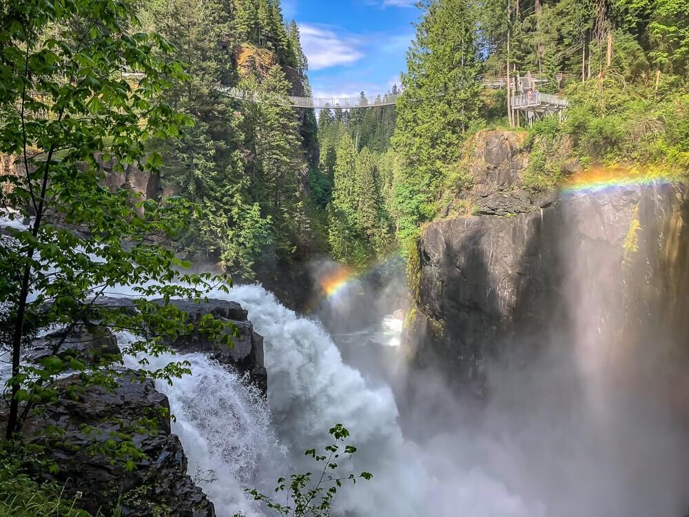 Elk Falls Provincial Park - Schitterende watervallen