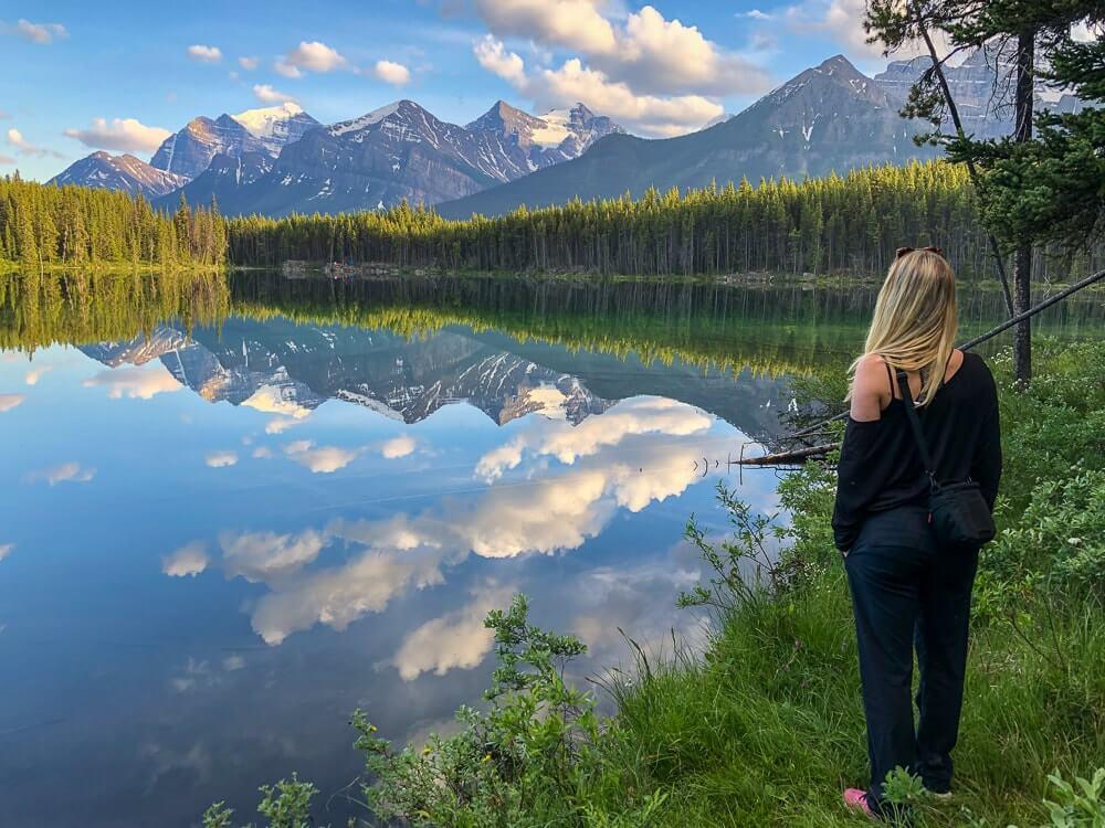 Herbert Lake Bow Valley - Minder populair, maar prachtig meer