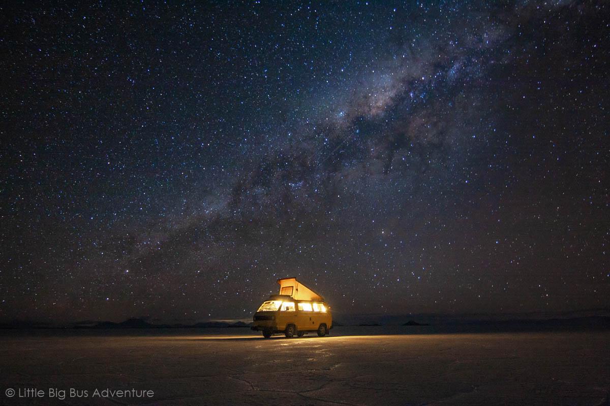 Kamperen onder een heldere sterrenhemel - Freek & Inge