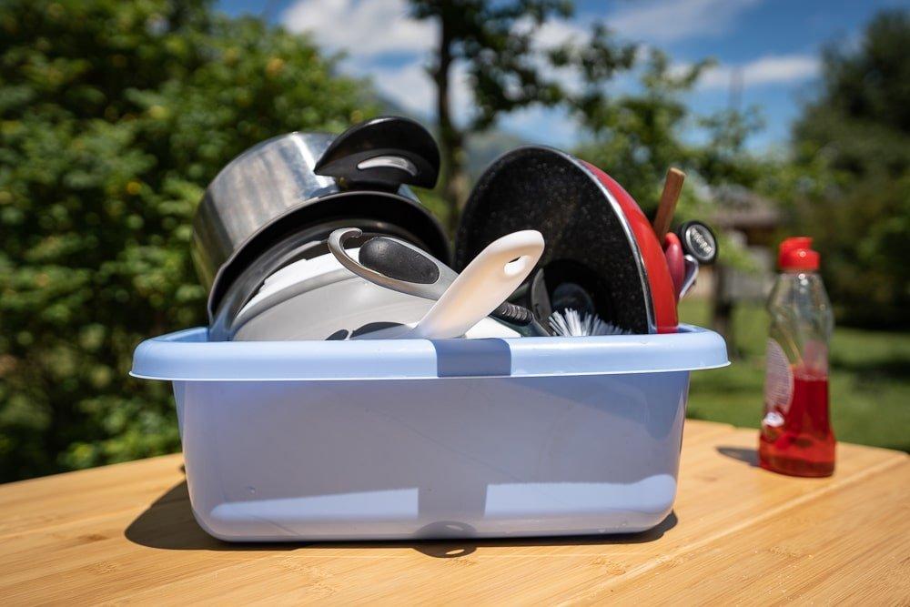Afwasteil - onmisbaar tijdens kampeertrip