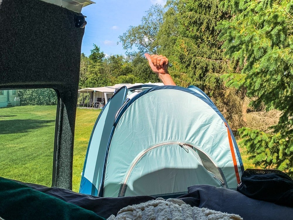 Douchetent camper